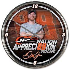 Dale Earnhardt Jr. WinCraft JR Nation Appreci88ion Tour Chrome Clock
