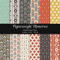 Patterned Paper – Tribal Tones. Patterns