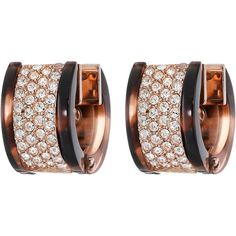 Michael Kors Jeweled Blush Tort Huggie Earrings ($95) ❤ liked on Polyvore featuring jewelry, earrings, jewels jewelry, hinged earrings, michael kors jewelry, jewel earrings and rose gold tone earrings