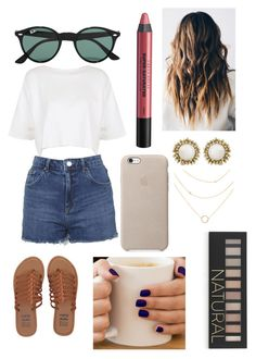 """Untitled #230"" by mercedezshiplett ❤ liked on Polyvore featuring Ray-Ban, Billabong, Topshop, Kendra Scott, Urban Decay and Forever 21"