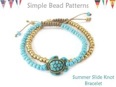 This easy DIY bracelet beading pattern will teach you how to make a sliding knot stacking bracelet with seed beads and a focal bead, great for beginners Macrame Bracelet Diy, Bracelet Crafts, Beaded Bracelet Patterns, Beading Patterns, Jewelry Knots, Bracelet Knots, Paracord Bracelets, Diy Bracelets Easy, Stacking Bracelets