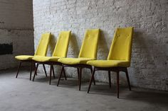 Available Dining Chairs, Bar Stools, Side Chairs Yellow Dining Chairs, Side Chairs, Outdoor Chairs, Outdoor Furniture, Outdoor Decor, Adrian Pearsall, Sun Lounger, Bar Stools, Mid-century Modern