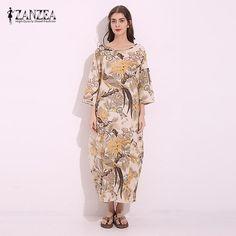 aa7e1cfa556 ZANZEA 2017 Womens Boho Lace-Up V-Neck Shirt Big Size Floral Print Flare  Sleeve Casual Loose Beach Tops Blouse Plus Size