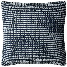 Rizzy Home Cotton 20-inch x 20-inch Textured Striped Decorative Filled Throw Pillow