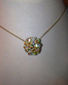 Swavorski Crystal Pendant Necklace Handmade by JewelrywithPassion, $45