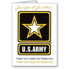 military card tank you   Army Wedding - Thank You Card