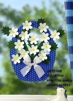 VK is the largest European social network with more than 100 million active users. Mothers Day Crafts, Easter Crafts For Kids, Art N Craft, Craft Stick Crafts, Spring Art, Spring Crafts, Paper Flowers Diy, Flower Cards, Book Crafts