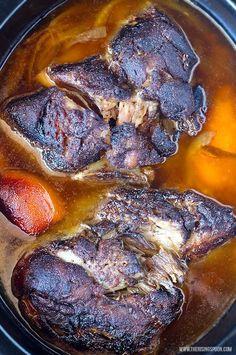 Slow Cooker Pork Shoulder For Pulled Pork amp Carnitas Pork Recipes, Slow Cooker Recipes, Cooking Recipes, Crockpot Recipes, Hamburger Recipes, Turkey Recipes, Cooking Tips, Dinner Recipes, Slow Cooker Pork Shoulder