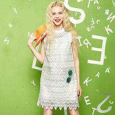 summer lace mesh dress elegant style