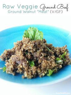 """Raw Veggie """"Ground Beef"""" (Ground Walnut """"Beef"""")  #raw #vegan  http://www.damyhealth.com/2012/06/raw-veggie-ground-beef-ground-walnut-meat/"""