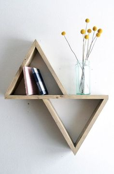 "Geometric Shelf II.  Wouldn't be ""that"" hard to make.  Could make triangles same or different sizes."