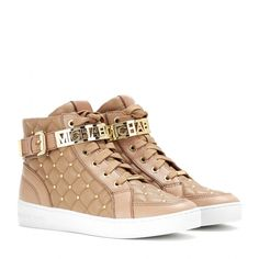 MICHAEL Michael Kors - Essex embellished leather high-top sneakers - mytheresa.com women shoes