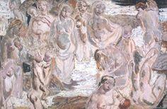 Artwork page for 'Bathing Scene, Bali', Ian Fairweather, Australian Painting, Australian Artists, Tate Gallery, Art History, Painting & Drawing, Bali, Abstract Art, Scene, Fine Art