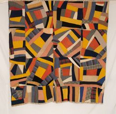 African American Folk Art Quilt c.1918 via www.rockymountainquilts.com