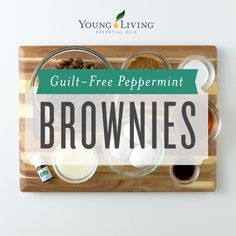Guilt-Free (and Gluten-Free) Black Bean Brownies featuring Peppermint Vitality Essential Oil ~ by Young Living Essential Oils