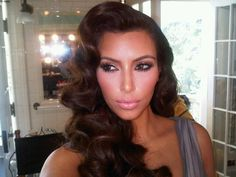 old hollywood hairstyles | Kim Kardashian was styled like Hollywood stars of yesteryear for her ...