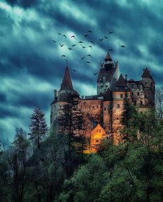 Creepy night at Dracula& mansion & Bran Castle, Transylvania, Romania. Photo by Would you like to spend a night in this place? & The post Creepy night at Dracula& mansion Bran appeared first on . Dark Castle, Castle In The Sky, Castle Rock, Beautiful Castles, Beautiful Places, Places To Travel, Places To Visit, Travel Destinations, Transylvania Romania