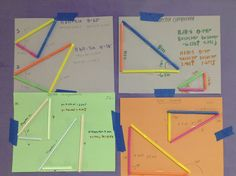 This are vectors forming a triangle. This is used to teach how vectors can unified and form figures. Useful for teachers