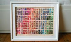 Image Detail for - Postage Stamp Art | Home Decor