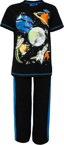 Max Collection, Pyjama, jossa avaruuspainatus, Musta/Sininen. 11,92 € Koko 122 cm.
