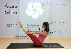 # Improve balance and coordination while strengthening your hips, thighs and abs - try Navasana (Boat Pose).# http://aoteayoga.com/