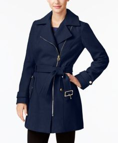 MICHAEL Michael Kors Asymmetrical Walker Coat | macys.com