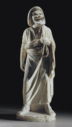 A ROMAN MARBLE ACTOR CIRCA LATE 1ST-EARLY 2ND CENTURY A.D.  | Christie's