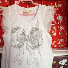 White Top with Sliver Ribbon 4-6 yrs S$19.90
