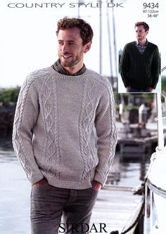 Sweaters in Country Style DK - 9434 - Men - For - Patterns