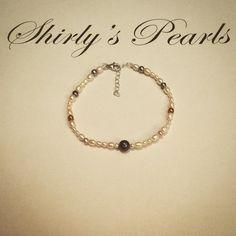 Braccialetto perle e argento