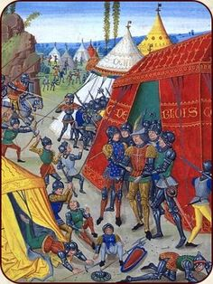 Charles de Blois, Herzog der Bretagne, wird während der Schlacht von Roche Derrien (1347) gefangengenommen.