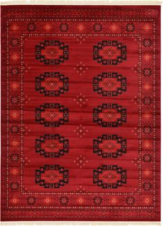 Cheap interim rug for front room if floor sanded? Red 9' 0 x 12' 0 Bokhara Rug | Area Rugs | iRugs UK