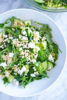 The moment you make this salad, you'll be itching to make it again. This arugula and couscous salad is simple, fast and tastes like it came from a fancy restaurant.