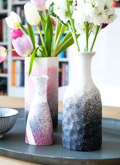 Kreidefarben Zum Sprühen, Unikate Selbermachen: DIY Vasen Mit Sprühfarbe  Pimpen