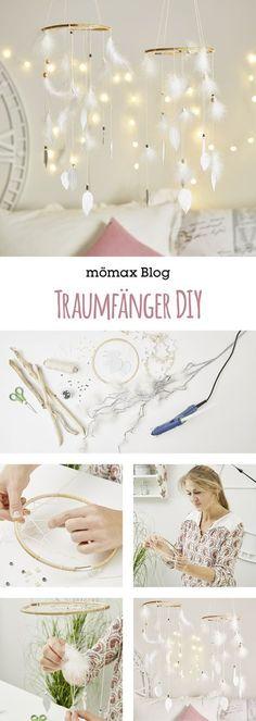 Dream Catcher DIY- Traumfänger DIY Simply make Dreamcatcher yourself! Instructions on the … - Diy Kids Room, Diy For Kids, Diy Tumblr, Bohemian Crafts, Bohemian Decor, Bohemian House, Boho Diy, Diy Pinterest, Diy Bebe
