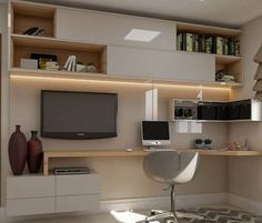 The Best Modern Home Office Design Elements Home Desk, Home Office Space, Home Office Design, Home Office Decor, House Design, Study Table Designs, Study Room Design, Home Staging, Muebles Living