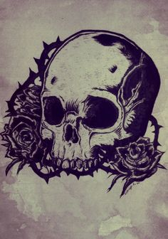 Skulls And Roses Wallpapers - http://wallpaperzoo.com/skulls-and-roses-wallpapers-31174.html