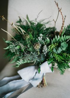 Image result for winter greenery wedding