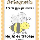 Spelling Work Cut and Paste Syllables in Spanish