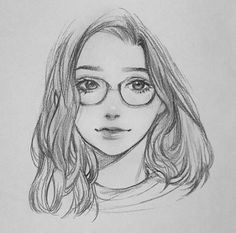 Ideas For Cool Art Drawings Sketches Pencil Girl Face Drawing, Anime Drawings Sketches, Cool Art Drawings, Portrait Sketches, Pencil Art Drawings, Anime Sketch, Drawing Faces, Cartoon Drawings, Sketch Girl Face