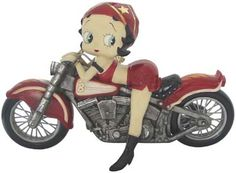 Betty Boop on Motorbike Laying