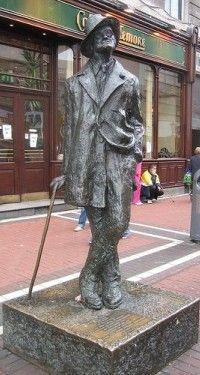 James Joyce Statue, Grafton Street Dublin