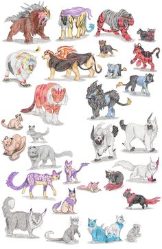 Dog Pokemon by DragonlordRynn on DeviantArt Cat Pokemon, Pokemon Sketch, Pokemon Breeds, Pokemon Funny, Pokemon Memes, Pokemon Fan Art, Hunter Pokemon, Pokemon Stuff, Pokemon Na Vida Real