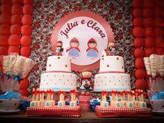 2 decoracao_chapeuzinho_vermelho, decoracao_aniversario_diferente, aniversario_tecido, aniversario_provençal