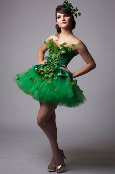 Custom Poison Ivy Green Dress Costume                                                                                                                                                     More