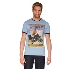 New for 2015 Barbour Nevada Tee - Powder Blue