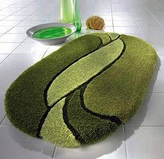 Designer Bath Rugs ~ http://modtopiastudio.com/choosing-the-tropical-bath-rugs-to-decorate-the-bathroom/