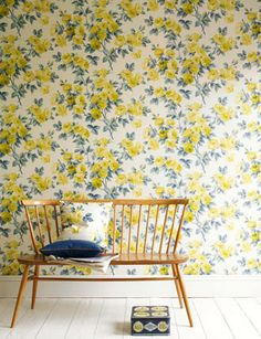 Sanderson. Vintage.Egglantine. Price in GBP. love that floral wallpaper