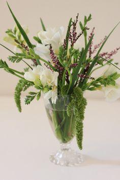 freesia flower arrangement by Rhiannon Smith