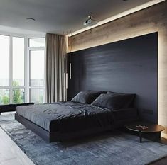 100 + Fresh Bedroom Relaxed to Take A Rest - javgohome-Home Inspiration Modern Bedroom Decor, Master Bedroom Design, Bedroom Designs, Bedroom Ideas, Modern Bedrooms, Bed Room Design Modern, Modern Bedroom Lighting, Bedroom Interiors, Dramatic Lighting